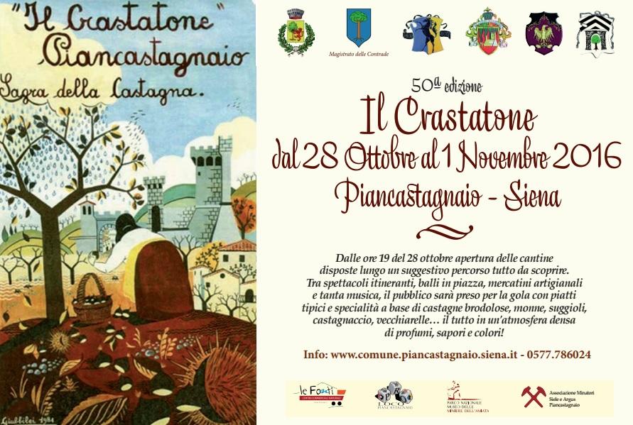 50ª edizione Il Crastatone dal 28 Ottobre al 1 Novembre 2016 Piancastagnaio - Siena